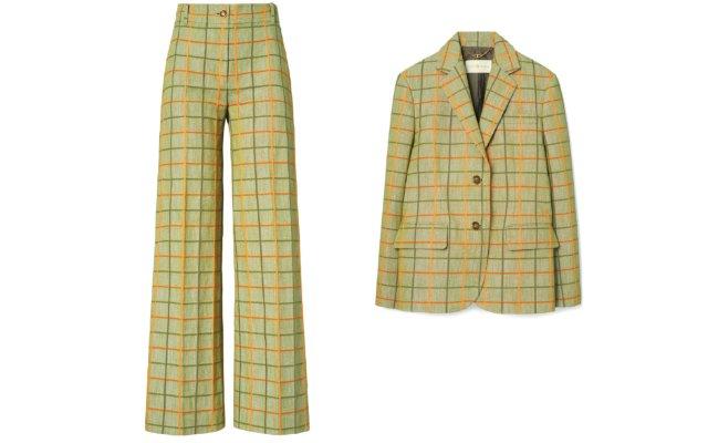 plaid blazer and pants