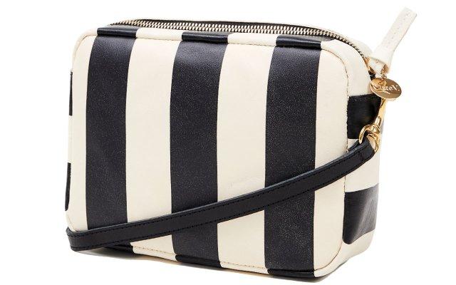 Black and white satchel
