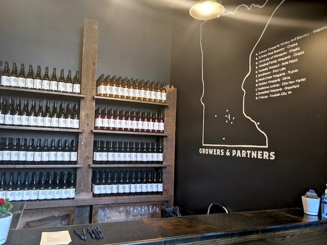 bottles and map of MN
