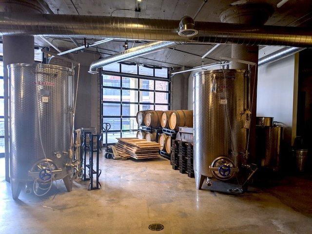 winery tanks at axebridge