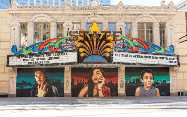 front of State Theatre