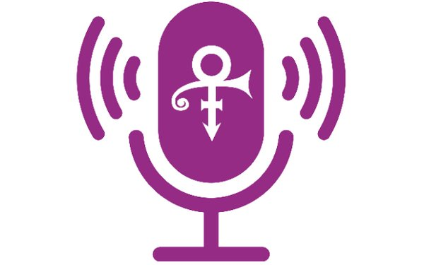 illustration of microphone with Prince's symbol on it symbol