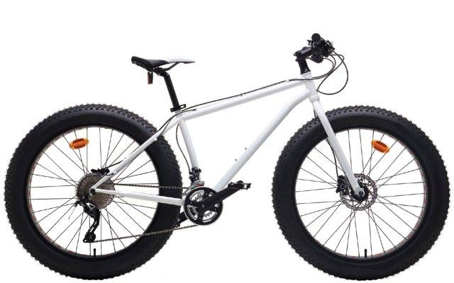 White fat tire bike
