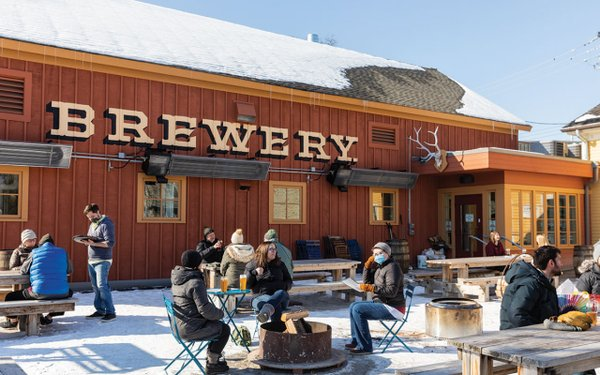 Waldmann Brewery patio in the winter