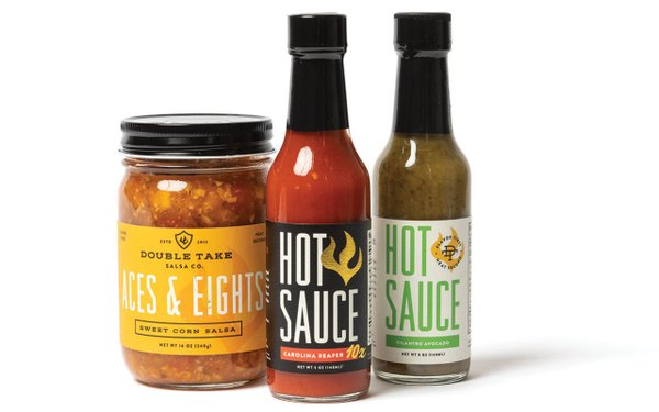 Three different hot sauces
