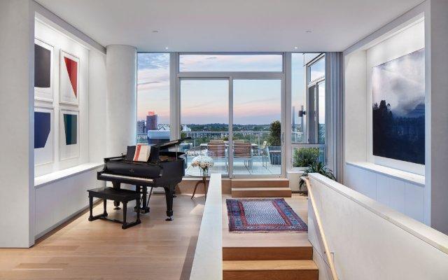 piano in hallway