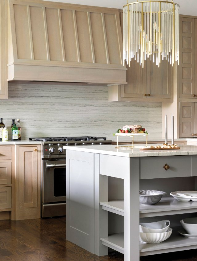 kitchen with blond wood
