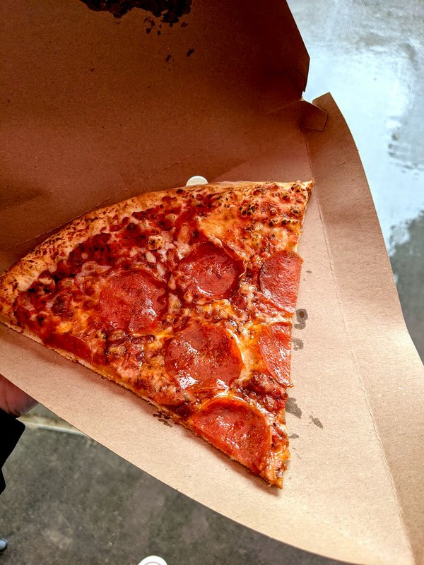 pizza slice at Target Field