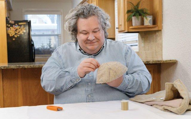Patric Richardson sewing