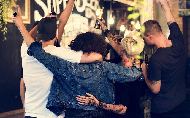 Group Beer Hug
