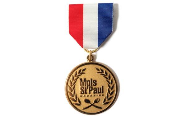 Best restaurants medal