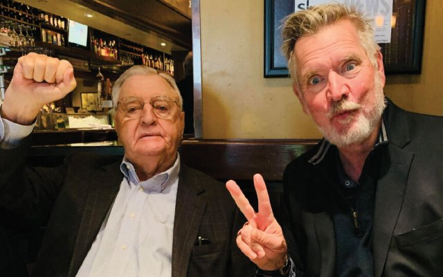 Fritz Mondale with Chan Poling
