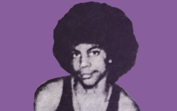 Prince with a purple background