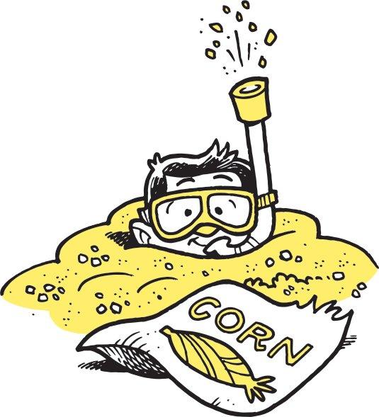 corn pit illustration