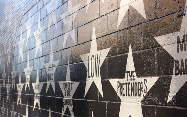 First Ave wall with stars