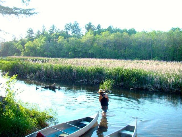 Winona LaDuke Standing in River