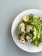 Cranberry Chicken Salad Wrap with Tossed Greens