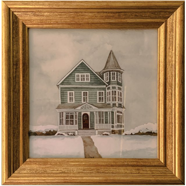 watercolor of Summit Hill house