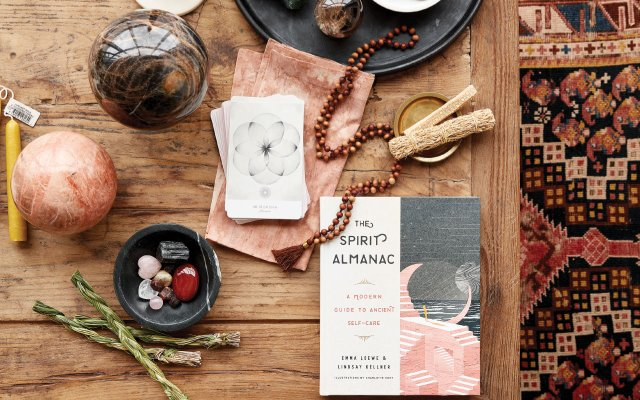 Spiritual objects on a table