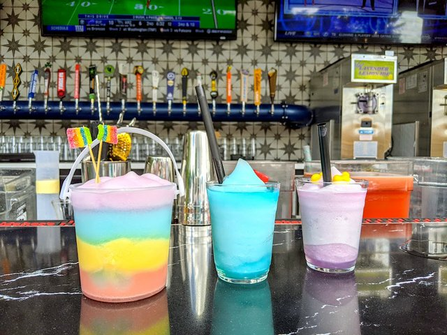 slushies on the bar