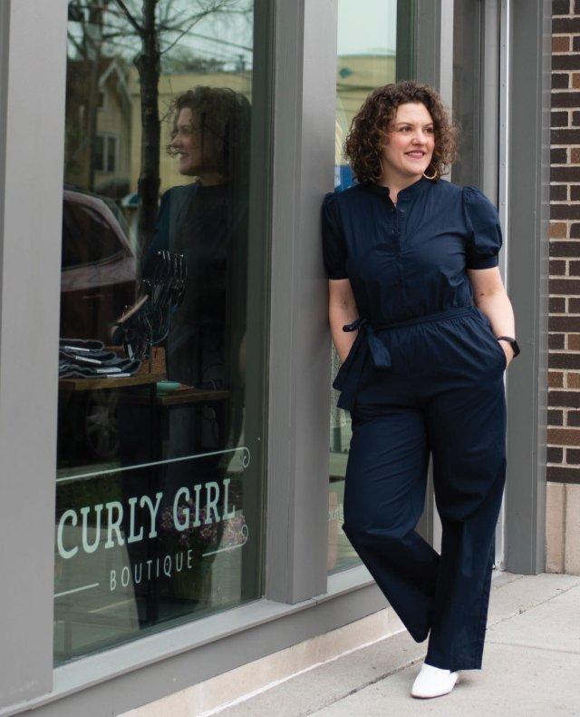 Emily Deutschman standing in front of Gurly Girl Boutique