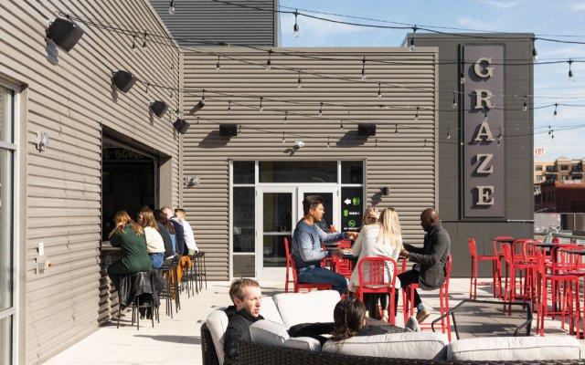 patio at Craze and Libations