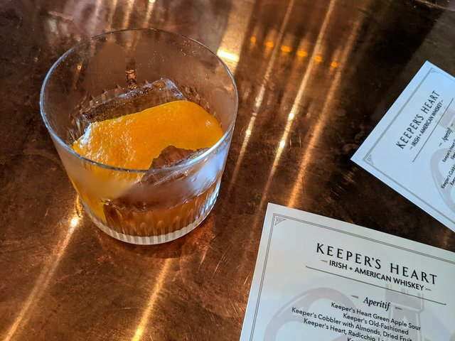 old fashioned drink on a bar