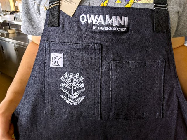 cook's apron from Owamni