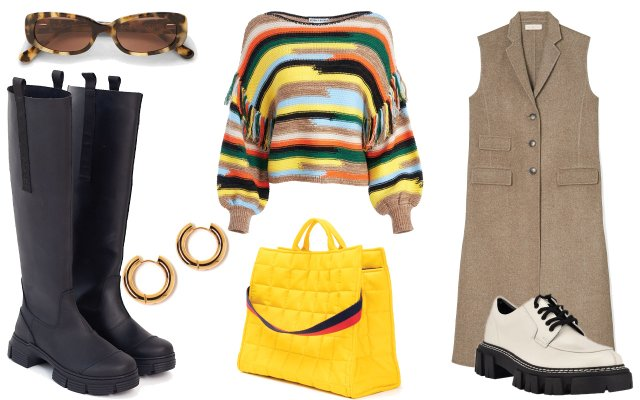 collage of fall clothes