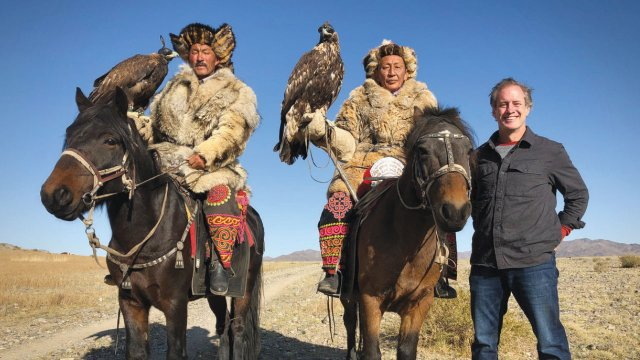 TV personality Ian Grant in Western Mongolia