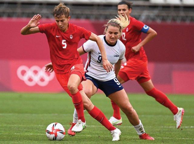 Team Canada midfielder Quinn