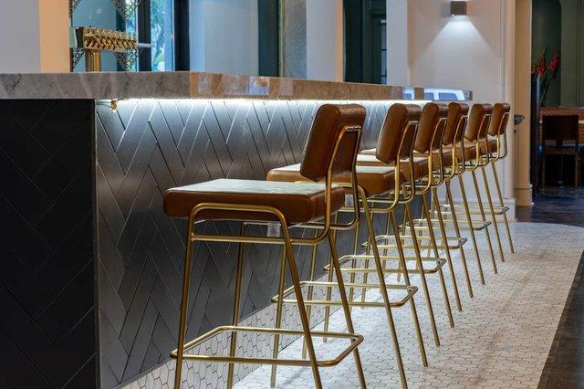 bar seats along bar