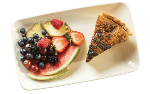 Pie and fruit
