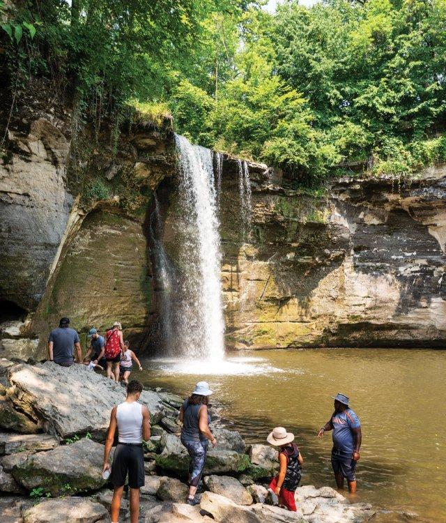 Minneopa Falls in Minneopa State Park, Mankato