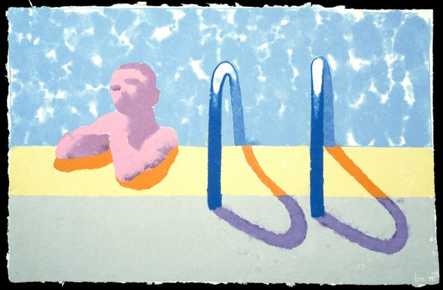 David Hockney, Gregory in the Pool