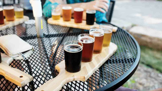 Beer flights at 612 Brew in Northeast Minneapolis