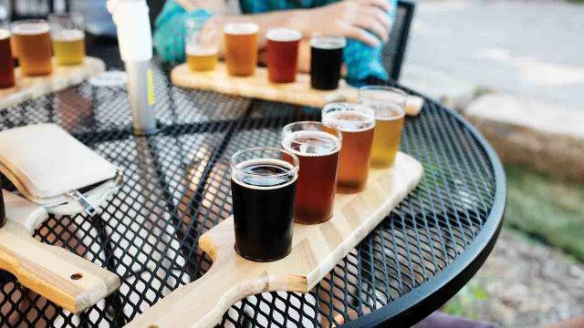 Beer flights at 612 Brew in Northeast Minneapolis