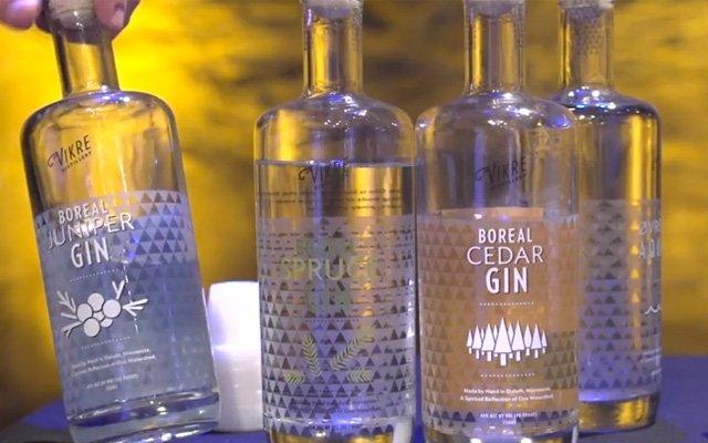 Boreal Juniper, Spruce, and Cedar gin at Vikre Distillery in Duluth