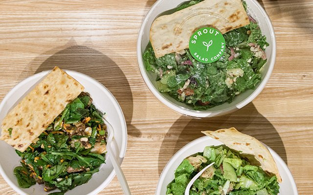 Salads from Sprout and Co., Minneapolis Skyway