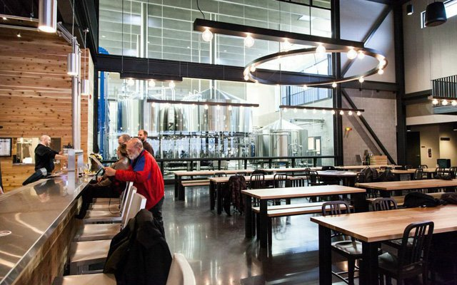 Dining area at Surly Brewing
