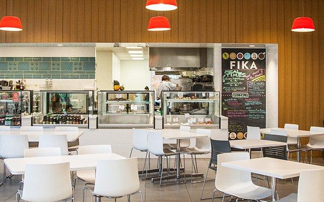 Dining area at Fika