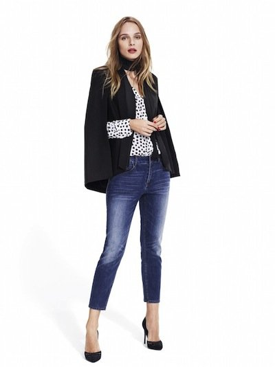 Studio-Model-wearing-black-cape-blazer-black-and-white-dot-blouse-distressed-ankle-jeans-and-black-pumps.jpg