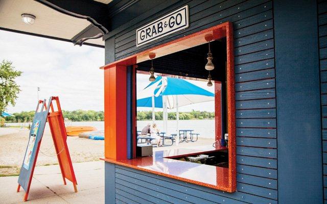 Doug Flicker's Sandcastle snack shack at Lake Nokomis