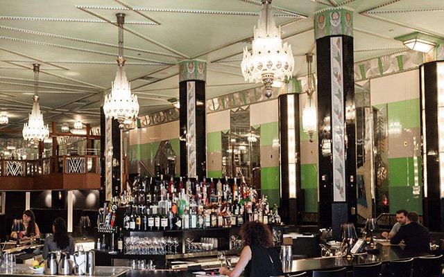 Bar area at Il Foro in Minneapolis