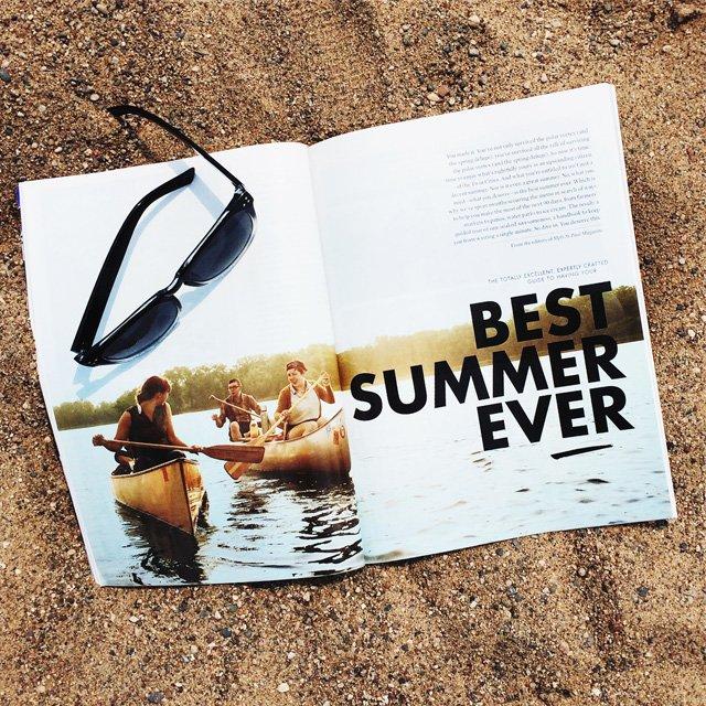 Mpls.St.Paul Magazine on a beach