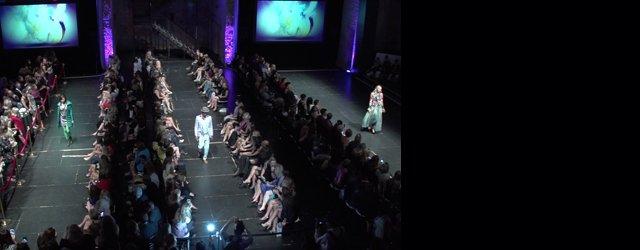 Overhead shot of audience at Fashionopolis