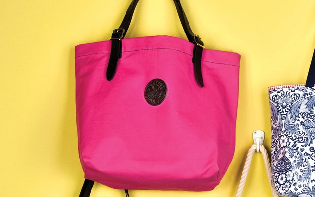 Pink market tote by Duluth Pack
