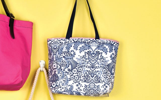Reversible print tote by Irresistibles