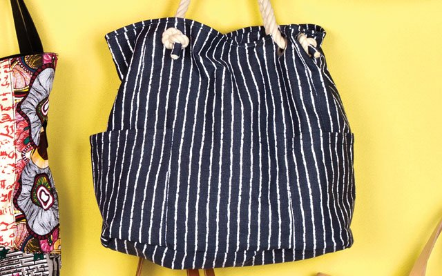 Stripe with rope handle from Lands' End