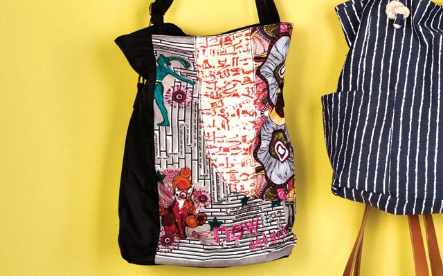 Graphic print bag from Desigual